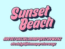Sunset Beach Script Design. Ve...