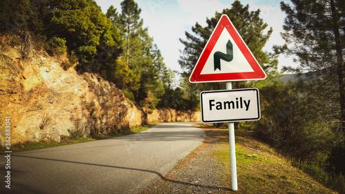 Obraz na plátně Street Sign to Family