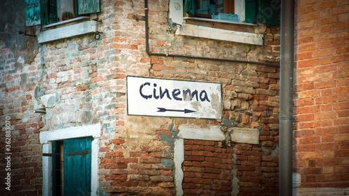 Fototapeta Street Sign to Cinema