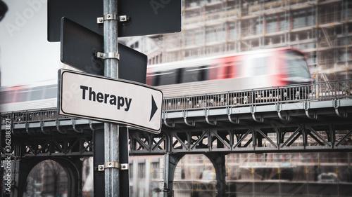 Fototapeta Street Sign to Therapy
