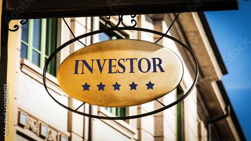 Fotografie, Obraz Street Sign to Investor