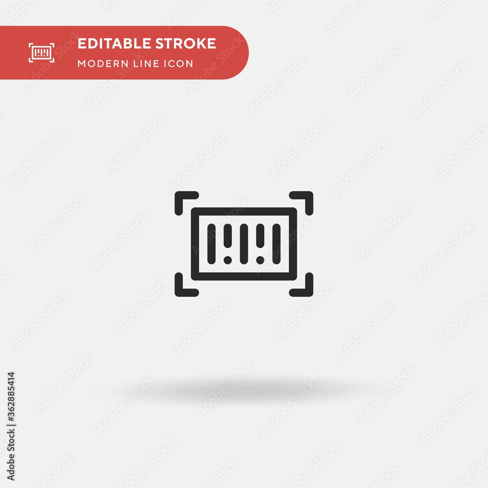 Fototapeta Barcode Simple vector icon. Illustration symbol design template for web mobile UI element. Perfect color modern pictogram on editable stroke. Barcode icons for your business project