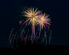 4th Of July Fireworks Over Coca Cola Park In Allentown Pennsylvania