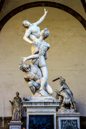 The Rape of the Sabine Women in florence Canvas Print