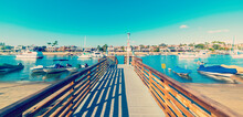 Wooden Boardwalk In Balboa Isl...