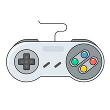 Video Game Controller Icon.Joystick, Game Play Icon