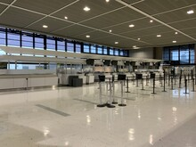 Spacious And Empty Airport Wai...