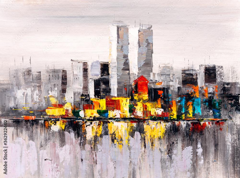 Oil Painting - New York City Skyline