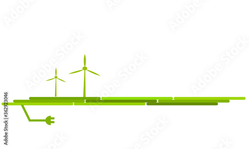Canvastavla Windenergie Energie Windrad Windmühle Band Banner Erneuerbare Energie Strom