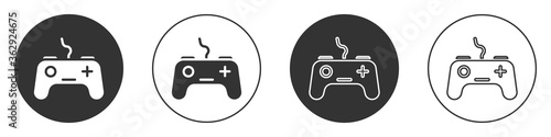 Black Gamepad icon isolated on white background Canvas Print