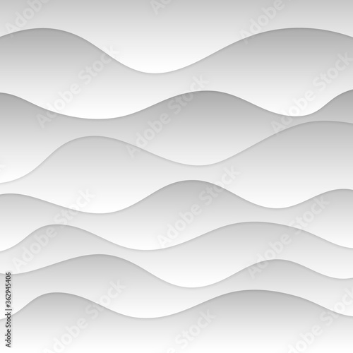 Fotografija Modern undulant form of sandy cover ocean coast shape in plain air wind soft shadow art style