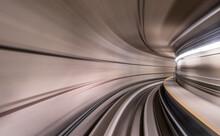 Speeding Inside Metro Tunnel
