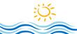 icona, sfondo, sole, mare, marino
