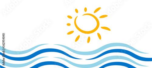 Obraz icona, sfondo, sole, mare, marino - fototapety do salonu