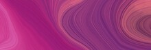 Colorful And Elegant Vibrant Creative Waves Graphic With Modern Curvy Waves Background Design With Dark Moderate Pink, Moderate Pink And Pale Violet Red Color