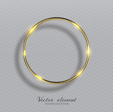 Vector Shining Golden Ring. Ab...