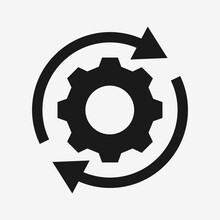 Setting Rotate Gear Icon Vecto...