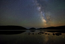Eagle Lake And The Milky Way.