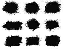 Ink Spots Set Isolated On A Wh...