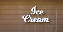 Inscription Ice Cream On A Woo...