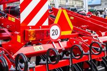 Agricultural Machinery For Harvesting. Cargo Large Mechanical Device. 07 July 2020, Minsk Belarus