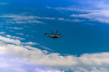 Low Angle View Of Helicopter F...