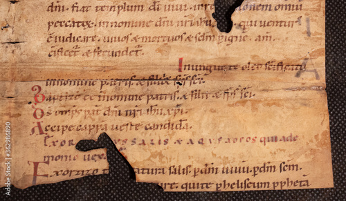 Photo Eleventh or tenth century manuscript on Exorcism against epidemic and pandemic c