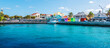 canvas print picture - Panoramic view of port of Nassau, Bahamas.