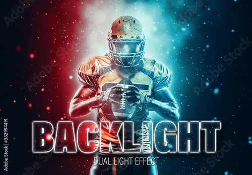 Obraz Two Color dual Lighting Photo Effect - fototapety do salonu