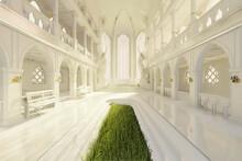A Majestic Fantasy Temple. A 3...