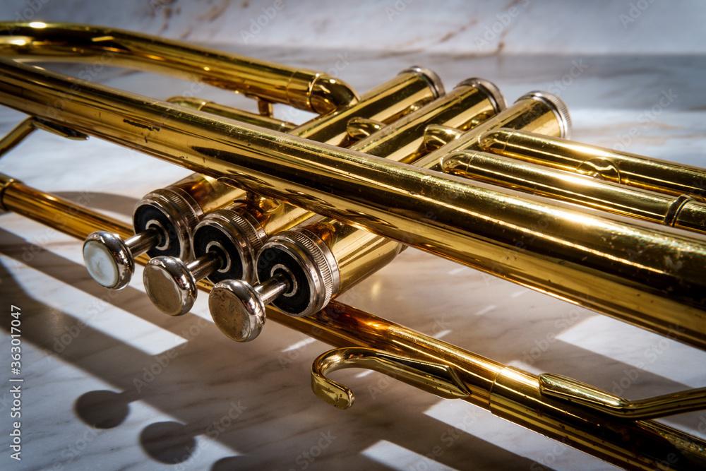 Fototapeta Classical Trumpet Marble Table