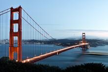 Golden Gate Bridge Over River Against Sky At San Francisco In California