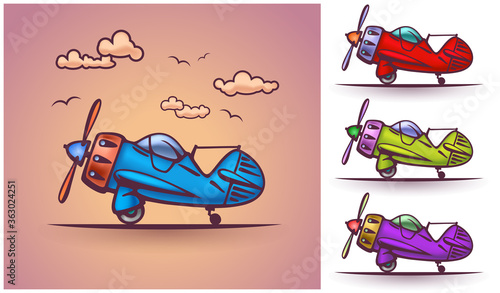 Photo Abstract plane, stylization, vector