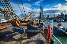 Vintage Ships Anchored At Hyde...
