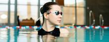 Portrait Of Professional Swimm...