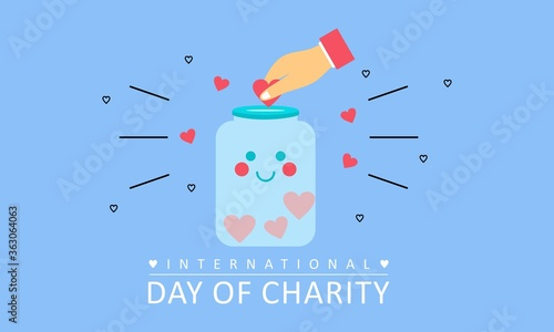 Cuadros en Lienzo Donation in the international day of charity illustration