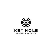 Creative Modern Key Hole Logo ...
