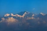 Kangchenjunga mountain range. view from Tiger Hill, Darjeeling, west bengal, India.