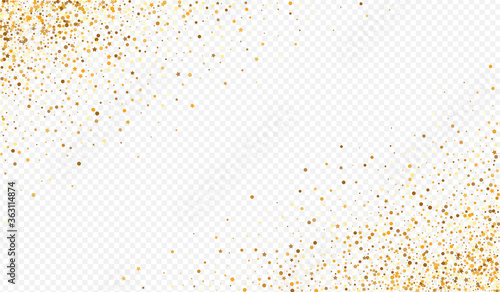 Gold Circle Effect Transparent Background. Paper Tableau sur Toile