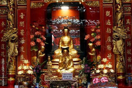 Wat Mangkon Kamalawat also known as Wat Leng Noei Yi, Dragon Lotus Temple, the l Fototapet