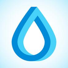 Blue Water Drop Logo. Vector I...