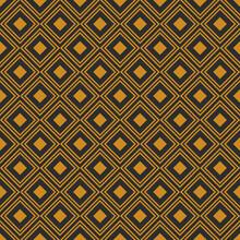 Geometric Retro Background With Gold Diamonds