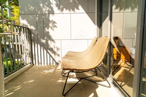 outdoor patio chair on balcony Canvas-taulu