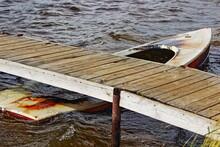 Abandoned Old Submerged Rowing...
