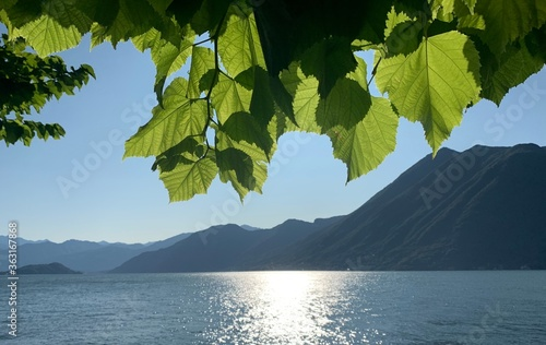 Scenic View Of Lake Against Sky Canvas Print