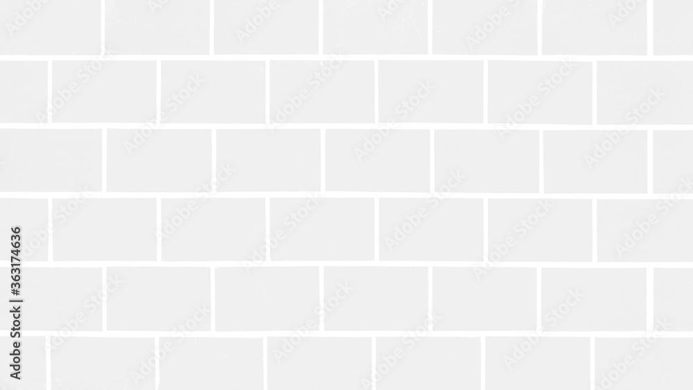 Fototapeta White light seamless brick tiles wall texture background