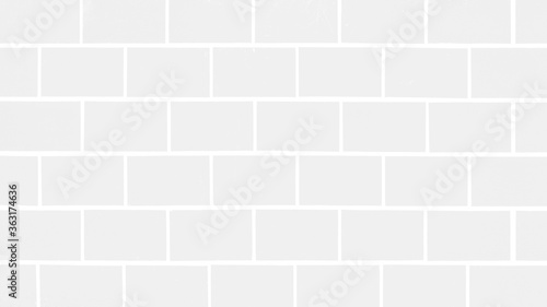 White light seamless brick tiles wall texture background