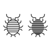 Woodlouse Line And Solid Icon,...
