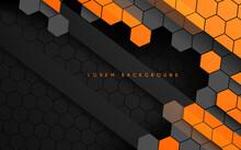 Abstract Hexagonal Black And O...