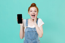 Excited Young Readhead Girl In...